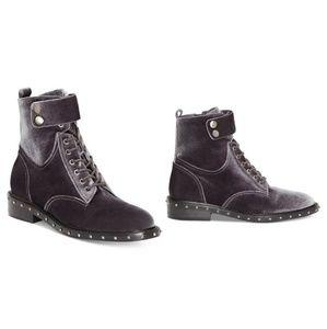 Vince Camuto Velvet Studded Combat Boots